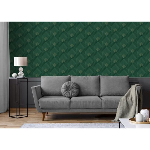 Dutch Wallcoverings Behang Galactik Dessin Groen/Goud L967-04