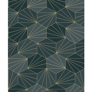 Dutch Wallcoverings Behang Galactik Dessin Groen/Goud L949-01