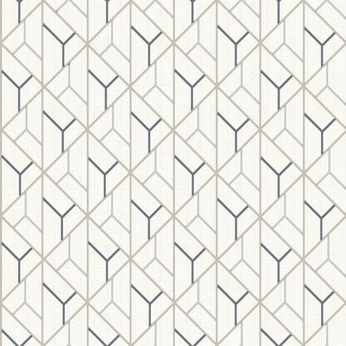 Dutch Wallcoverings Behang Galactik Dessin Beige/D.Blauw L940-07
