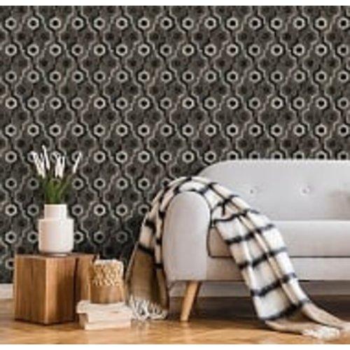 Dutch Wallcoverings Behang Galactik Dessin Bruin/Zwart L927-19