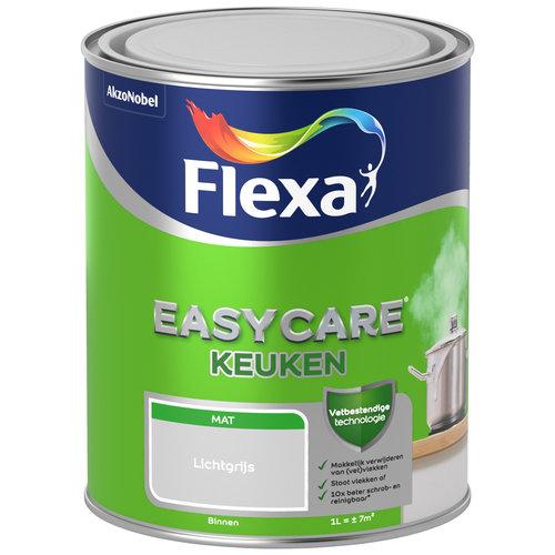Flexa Easycare Muurverf Keuken Mat - Lichtgrijs - 1 liter