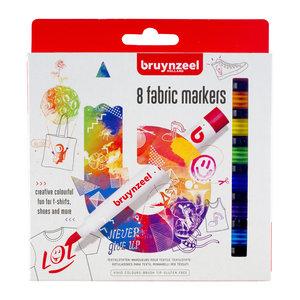 Bruynzeel Fabric Markers - 8 stuks