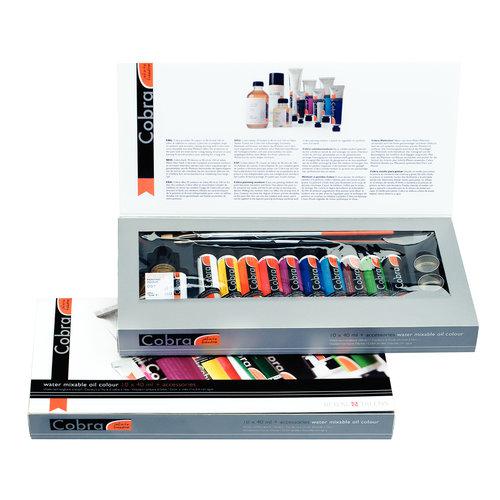 Cobra Artist geschenkverpakking 10 x 40 ml + Accessoires