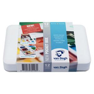 Van Gogh Aquarelverf Pocket Box Basic Colours - 12 kleuren - Halve Napjes