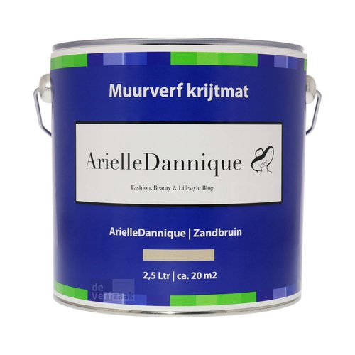 ArielleDannique Muurverf Krijtmat - 2,5 liter Zandbruin
