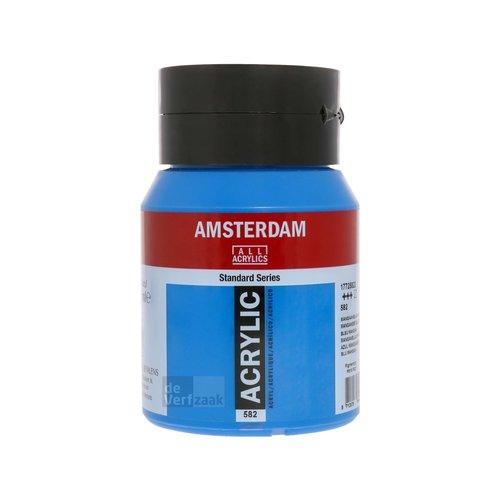 Royal Talens Amsterdam Acrylverf 500 ml Mangaanblauw Phtalo