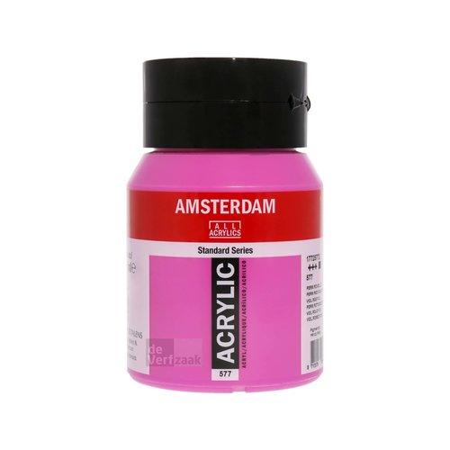 Royal Talens Amsterdam Acrylverf 500 ml Permanentrood Violet Licht