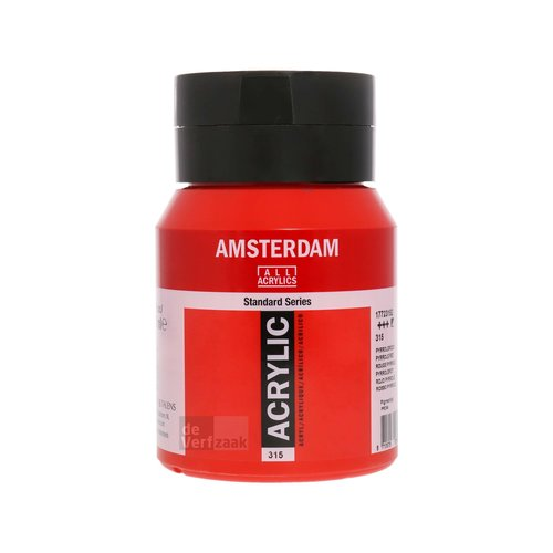 Royal Talens Amsterdam Acrylverf 500 ml Pyrrolerood