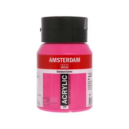 Royal Talens Amsterdam Acrylverf 500 ml Quinacridone Roze