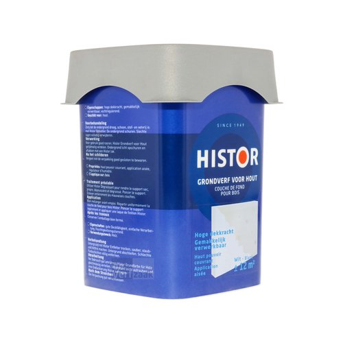 Histor Perfect Base Grondverf voor Hout - 750 ml Wit