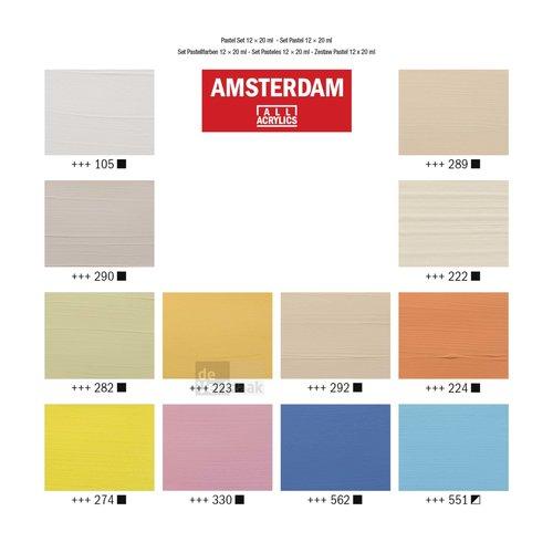 Amsterdam Set 12 x 20 ml - Pastel