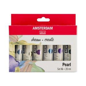 Amsterdam Standard Series Acrylics 6 x 20 ml Glasparel Set