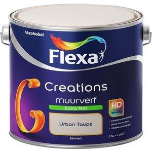 Flexa Creations Muurverf Extra Mat - Urban Taupe - 2,5 liter