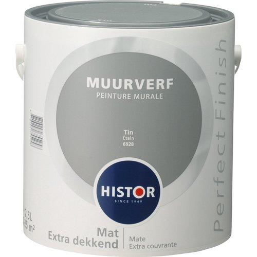 Histor Perfect Finish Muurverf Mat - Tin - 2,5 liter