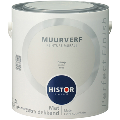 Histor Perfect Finish Muurverf Mat - Damp - 2,5 liter