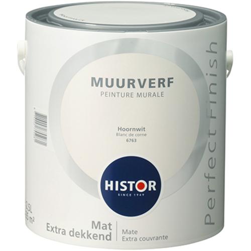 Histor Perfect Finish Muurverf Mat - Hoornwit - 2,5 liter