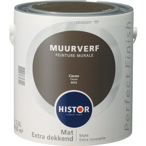 Histor Perfect Finish Muurverf Mat - Cacao - 2,5 liter
