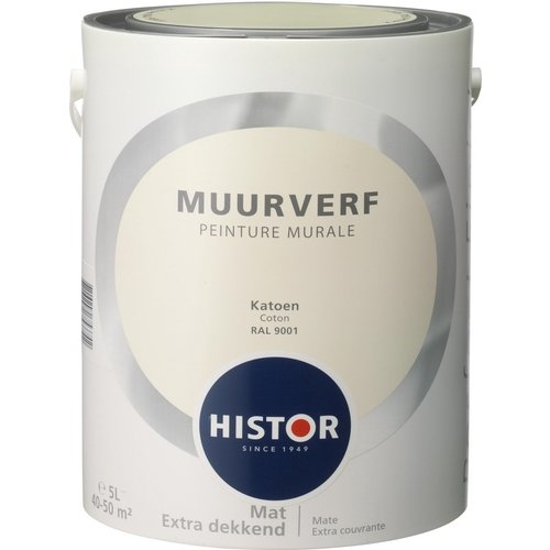 Histor Perfect Finish Muurverf Mat - Creme RAL 9001 - 5 liter