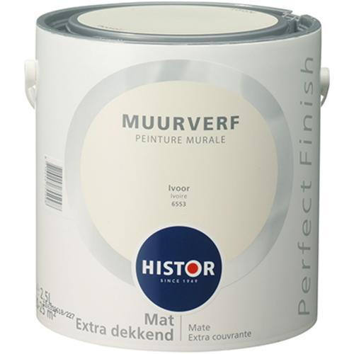 Histor Perfect Finish Muurverf Mat - Ivoor - 2,5 liter