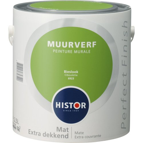 Histor Perfect Finish Muurverf Mat - Bieslook - 2,5 liter