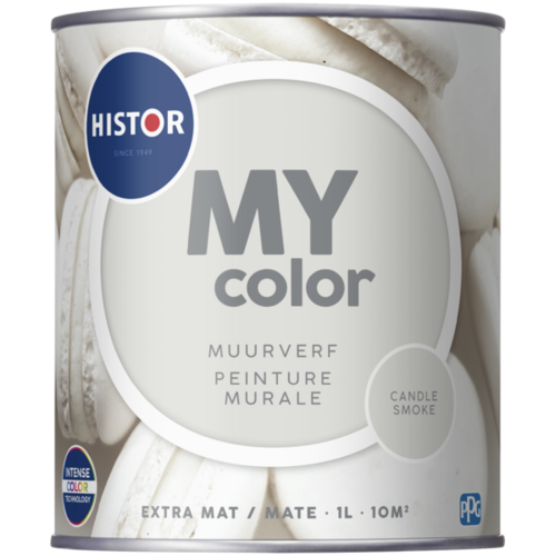 Histor My Color Muurverf Extra Mat - Candle Smoke - 1 liter