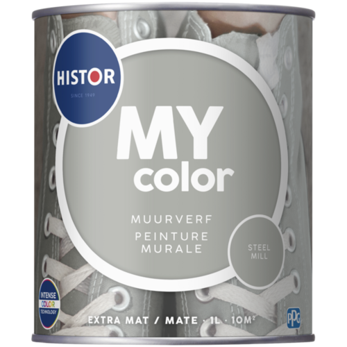 Histor My Color Muurverf Extra Mat - Steel Mill - 1 liter