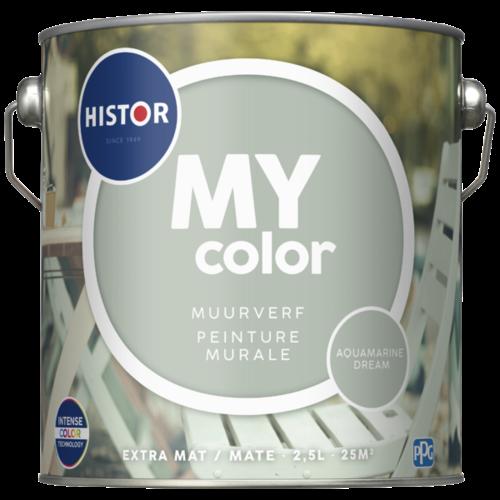 Histor My Color Muurverf Extra Mat - Aquamarine Dream - 2,5 liter