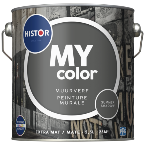 Histor My Color Muurverf Extra Mat - Summer Shadow - 2,5 liter