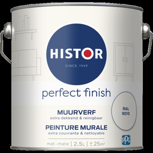 Histor Perfect Finish Muurverf Mat - Ral 9010 - 2,5 liter
