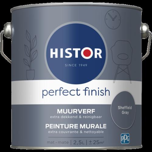 Histor Perfect Finish Muurverf Mat - Sheffield Grey - 2,5 liter
