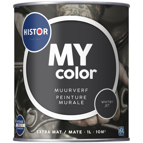 Histor My Color Muurverf Extra Mat - Whitby Jet - 1 liter