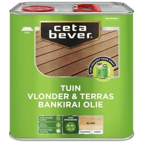 Cetabever Tuin Vlonder en Terras Bankirai Olie Transparant Zijdemat - Blank - 2,5 liter