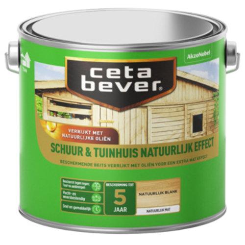 Cetabever Beits Schuur en Tuinhuis Natuurlijk Effect Mat - Blank - 2,5 liter