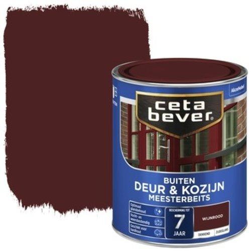 Cetabever Meesterbeits Deur en Kozijn Dekkend Zijdeglans - Wijnrood - 0,75 liter