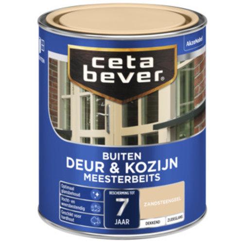 Cetabever Meesterbeits Deur en Kozijn Dekkend Zijdeglans - Zandsteengeel - 0,75 liter