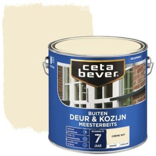 Cetabever Meesterbeits Deur en Kozijn Dekkend Zijdeglans - Creme Wit - 2,5 liter