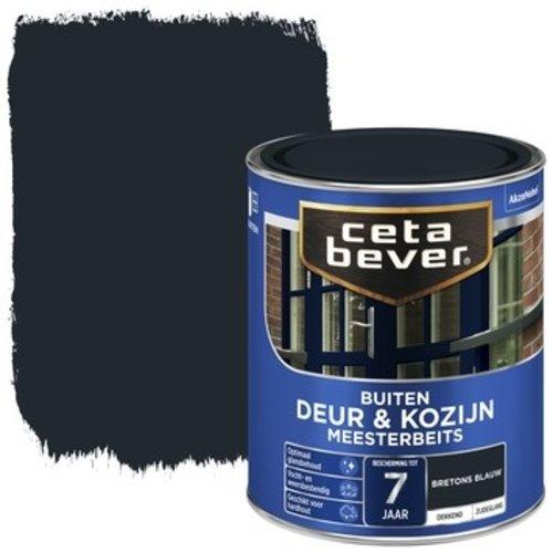 Cetabever Meesterbeits Deur en Kozijn Dekkend Zijdeglans - Bretons Blauw - 0,75 liter