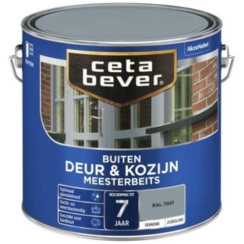 Cetabever Meesterbeits Deur en Kozijn Dekkend Zijdeglans - RAL 7001 - 2,5 liter
