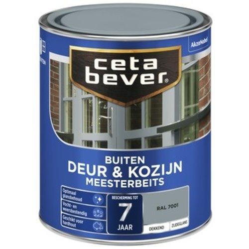 Cetabever Meesterbeits Deur en Kozijn Dekkend Zijdeglans - RAL 7001 - 0,75 liter