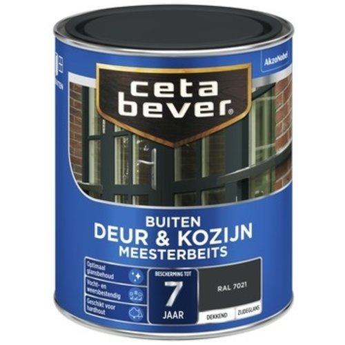 Cetabever Meesterbeits Deur en Kozijn Dekkend Zijdeglans - RAL 7021 - 0,75 liter