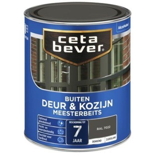 Cetabever Meesterbeits Deur en Kozijn Dekkend Zijdeglans - RAL 7022 - 0,75 liter