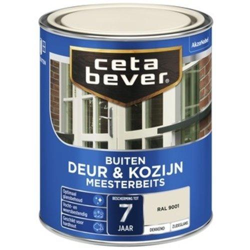 Cetabever Meesterbeits Deur en Kozijn Dekkend Zijdeglans - RAL 9001 - 0,75 liter