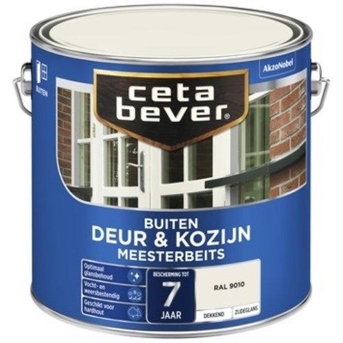 Cetabever Meesterbeits Deur en Kozijn Dekkend Zijdeglans - RAL 9010 - 2,5 liter
