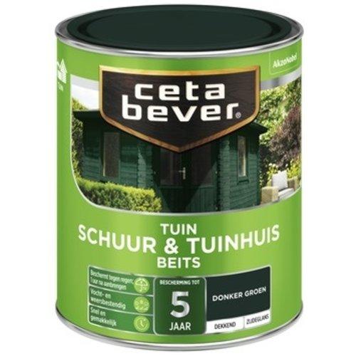Cetabever Schuur en Tuinhuis Beits Dekkend Zijdeglans - Donkergroen - 0,75 liter