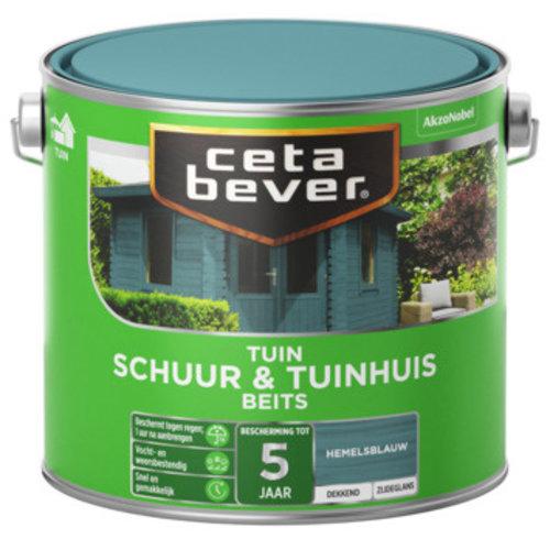 Cetabever Schuur en Tuinhuis Beits Dekkend Zijdeglans - Hemelsblauw - 2,5 liter