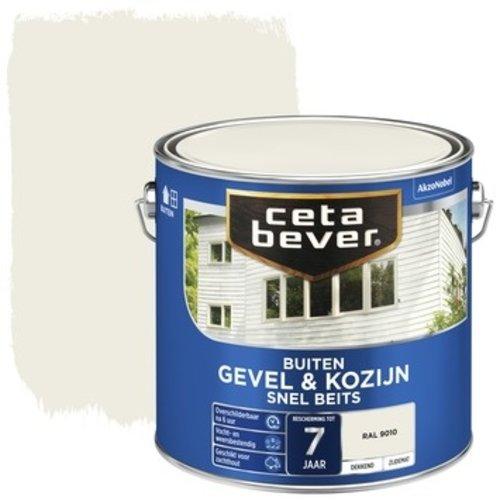 Cetabever Gevel en Kozijn Snel Beits Dekkend Zijdemat - RAL 9010 - 2,5 liter