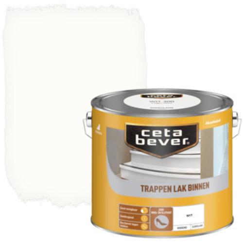 Cetabever Trappen Lak Binnen Dekkend Zijdeglans - Wit - 2,5 liter