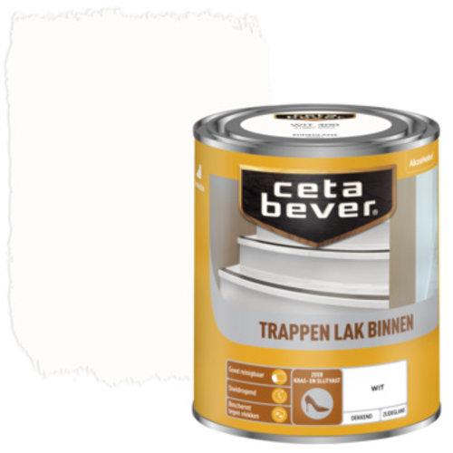 Cetabever Trappen Lak Binnen Dekkend Zijdeglans - Wit - 0,75 liter