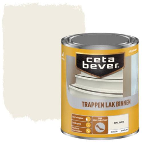 Cetabever Trappen Lak Binnen Dekkend Zijdeglans - RAL 9010 - 0,75 liter