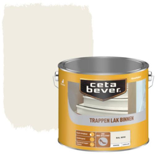Cetabever Trappen Lak Binnen Dekkend Zijdeglans - RAL 9010 - 2,5 liter